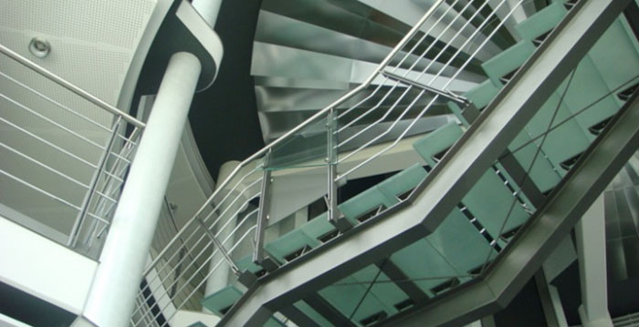 Glass staircase